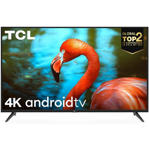 "TCL T.V 50"""" Smart 4K UHD  3 HDMI 1 USB HDR10  Android P  Chrome cast  Voice Control"