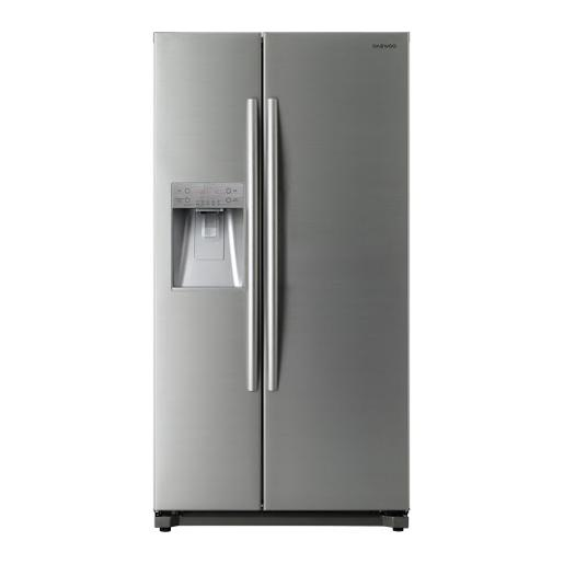 DAEWOO side by side Refrigerator Stainless Steel A+