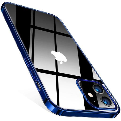 TORRAS Crystal Clear Case for iPhone 12 mini Blue