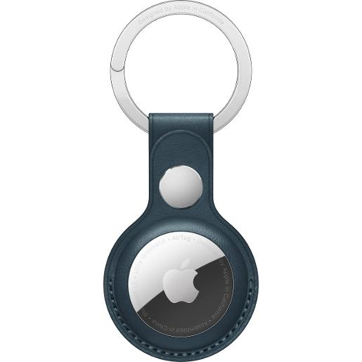 APPLEA AirTag Leather Key Ring - Baltic Blue