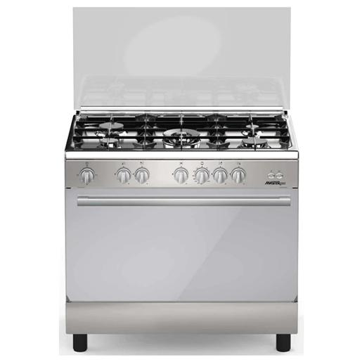 GOLDMASTER Oven Gas Cooker 90cm X 60cm S.steel Cast Iron Duble Glass Door Close System.