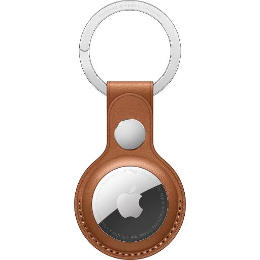 APPLE A AirTag Leather Key Ring - Saddle Brown
