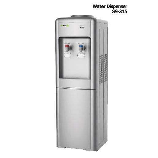 TEKMAZ Stand water dispenser  Stainless steel  Size : 35.5X36.5X10.98 cm Hot & Cold