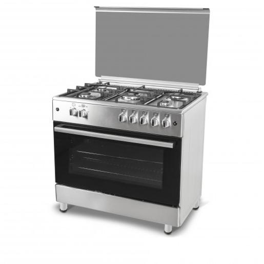 CONTI Oven Gas Cooker Cast  Iron 90& 60 Steel 5 Burners Full Safty