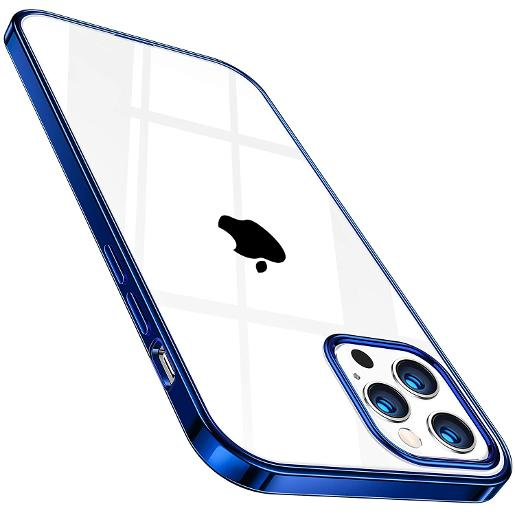 TORRAS Crystal Clear Case for iPhone 12/12 Pro Blue
