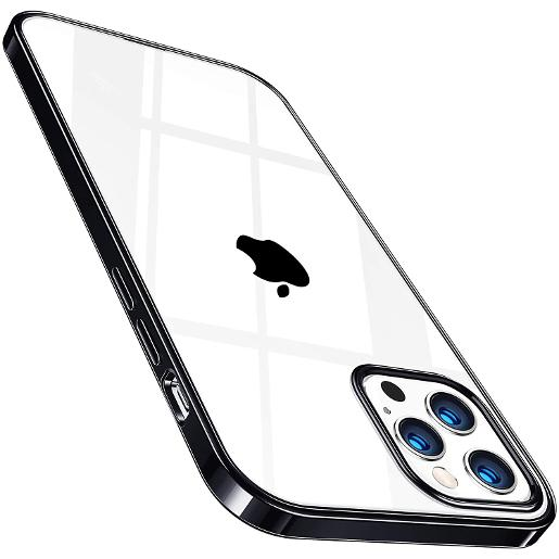 TORRAS Crystal Clear Case for iPhone 12/12 Pro Black
