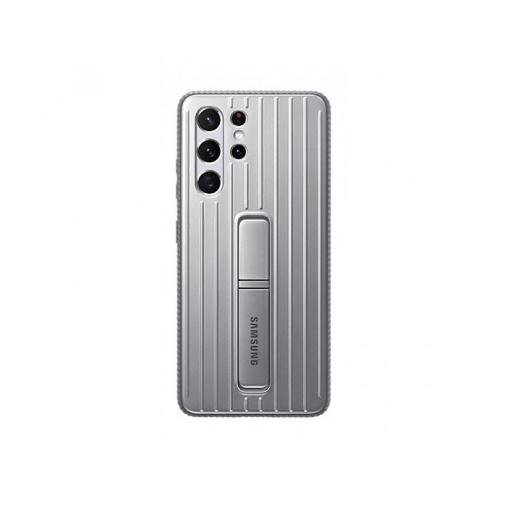 Samsung S21+ Cover Protective Standing Cover Light Gray