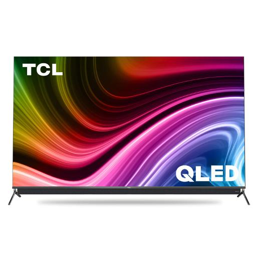 "TCL T.V 55"""" Smart QLED 4K UHD  3 HDMI  2 USB  HDR10+ Android P Chrome cast Voice Cont"