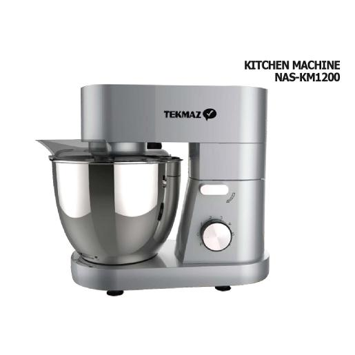 TEKMAZ Kitchen Machine  6l 1200w 6 Speed Steel Bowl