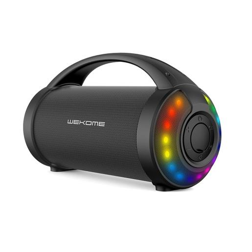 WEKOME Colorful Outdoor Portable Bluetooth Speaker  Support USB & AUX 1. Handle design  more co