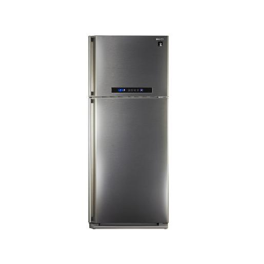 Sharp two doors  Refrigerator Stainless Steel A+